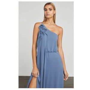 BCBGMax Azria Joyce One Shoulder Ruched Knit Gown